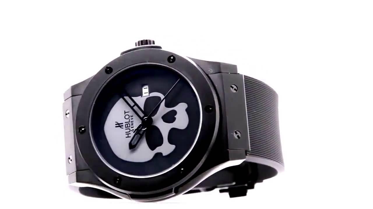 afde4f57f9ce ЧАСЫ HUBLOT SKULL BANG элитные мужские часы!Скидка! 2490 руб! - YouTube