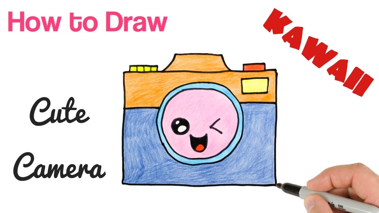 How To Draw Cute Stuff Camera Kawaii And Easy Youtube
