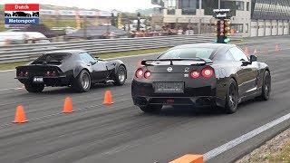 900HP Corvette C3 vs. 1000HP Nissan GTR vs. 600HP Audi TT-RS - Drag Race !