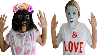 Masal and her mom make a beauty mask