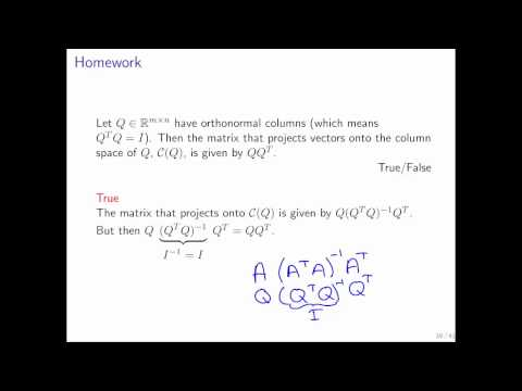 11.3.2 Orthonormal Vectors Part 8