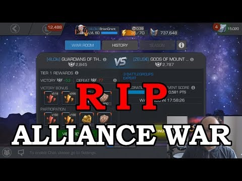 RIP Alliance Wars | Marvel Contest of Champions
