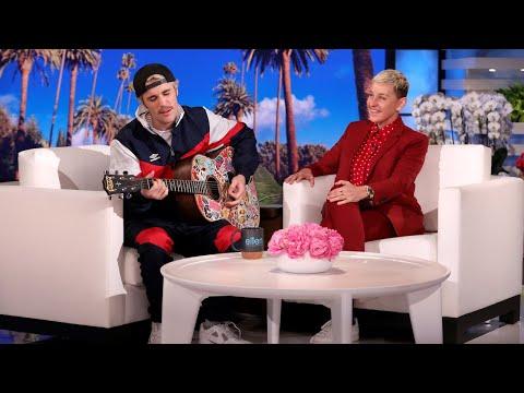 """Justin Bieber Serenades Ellen with """"Yummy"""""""