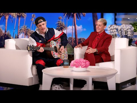 Justin Bieber Serenades Ellen with 'Yummy'
