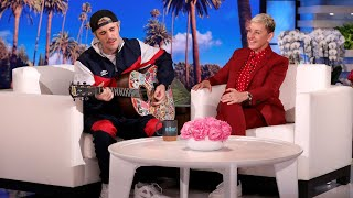 Gambar cover Justin Bieber Serenades Ellen with 'Yummy'