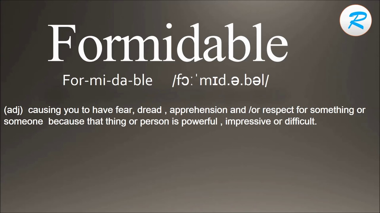 Amazing How To Pronounce Formidable | Formidable Pronunciation | Formidable Meaning  | Formidable Definition