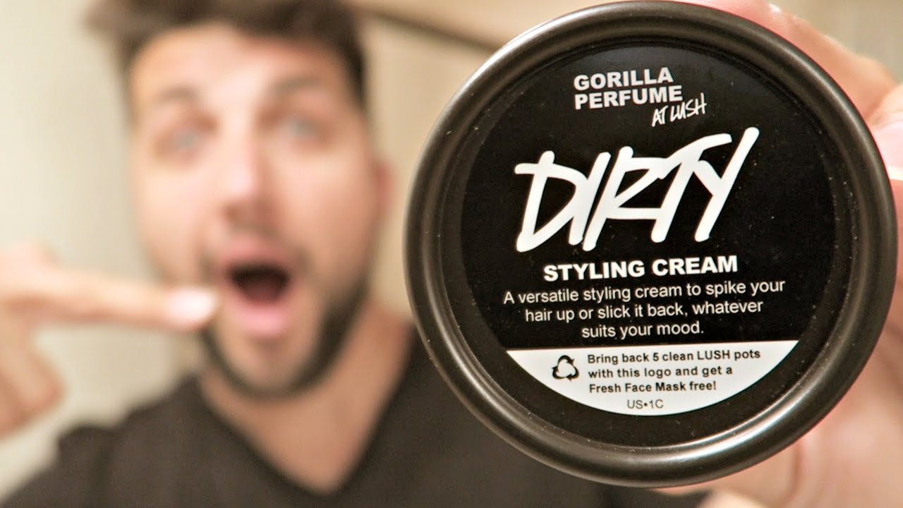 Hair Styling Cream Amusing Lush Cosmetics Review  Dirty Hair Styling Cream  Youtube