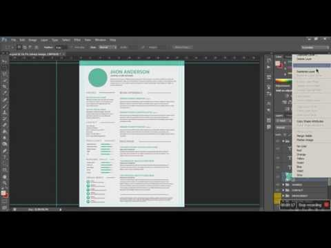 How to Edit Resume / CV in Photoshop and Microsoft Word