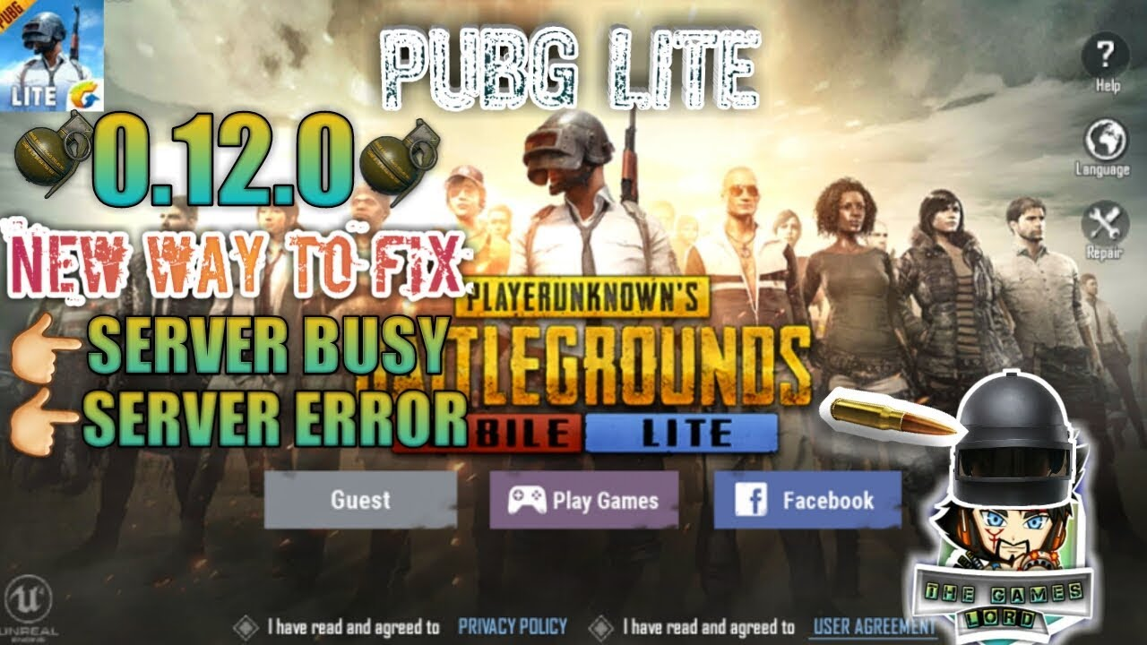 how to fix Pubg Mobile Lite Server is busy problem (0 12 0)