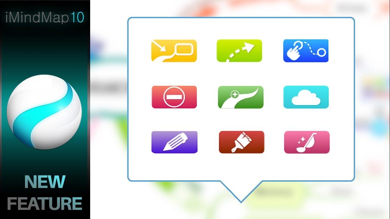 imindmap 10 new branch drawing tool - I Mindmap