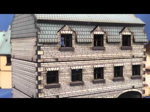 4GROUND's 15mm Stone Hotel, Shop and Damaged Semi mdf buildings: a video review