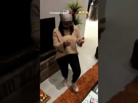 Boity Thulo rocking the VOSHO dance