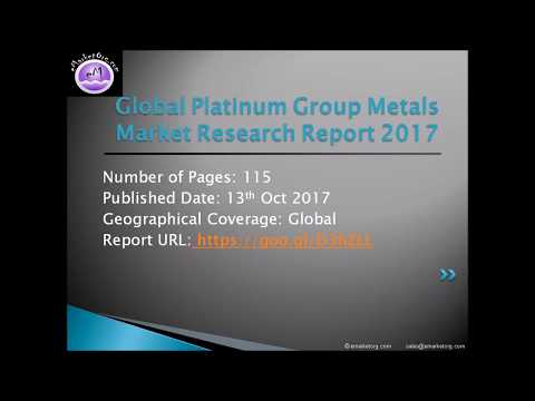 Platinum Group Metals Market – Outlook, Size, Share, Growth Prospects