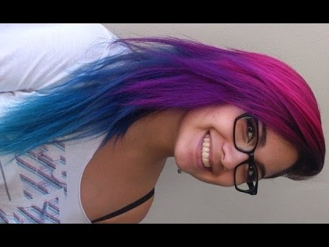 how i did my pink purple blue and turquoise hair youtube