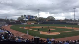 Tim Tebow rips double off left-field wall