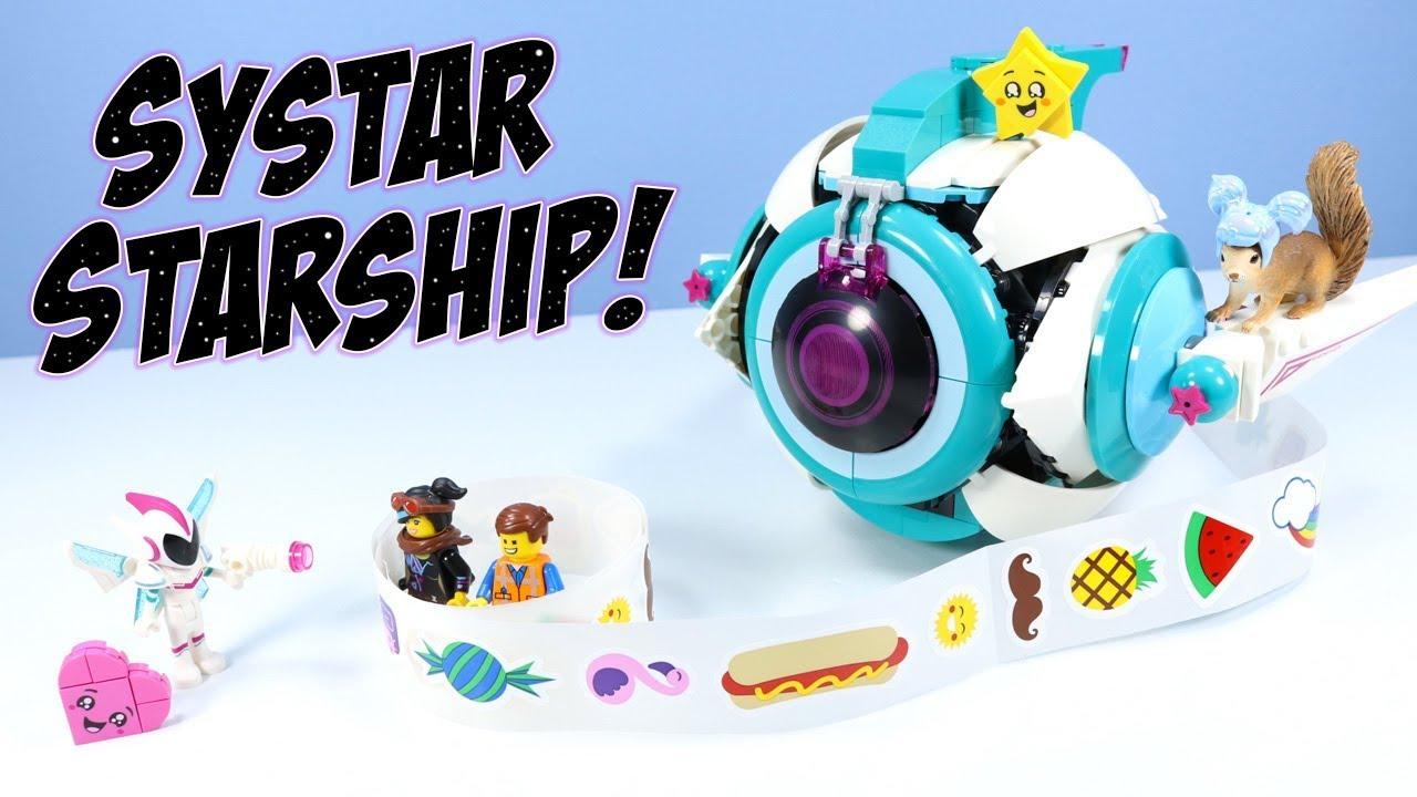 The Lego Movie 2 Sweet Mayhem S Systar Starship Set Build Review 70830 Youtube