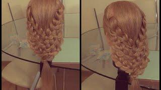 Причёска из кос. Видео-урок.