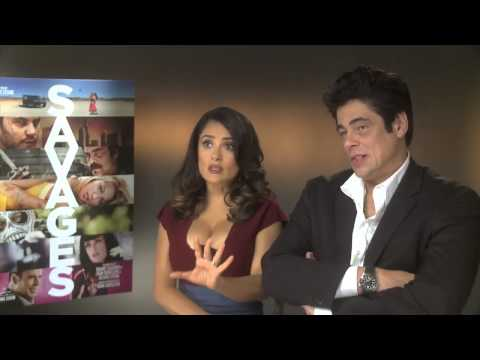 Salma Hayek And Benicio Del Toro -- Savages DVD Interview | Empire Magazine