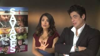 Salma Hayek And Benicio Del Toro -- Savages DVD Interview | Empire Magazine