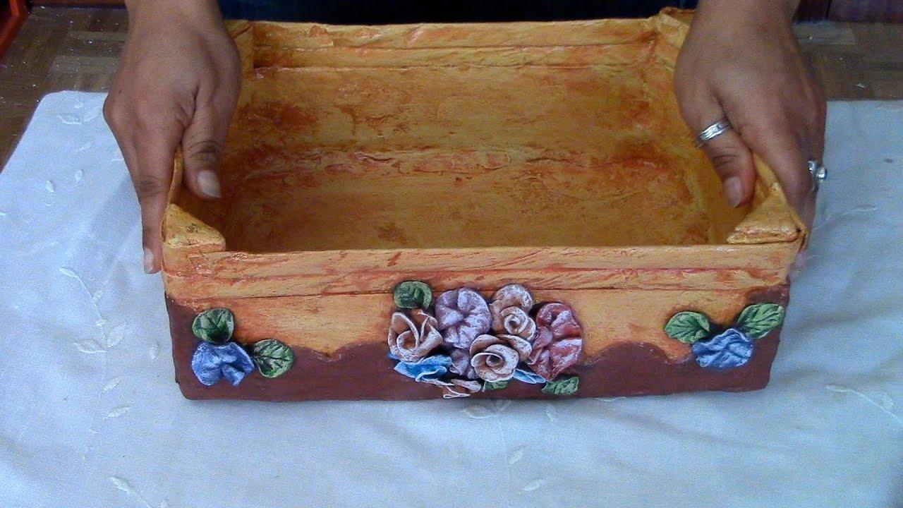 Reciclaje de caja de fresa frutera wooden box recycle - Manualidades con cajas de frutas ...