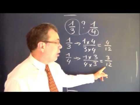 Math 6ème 5ème fraction : Comparaison et calcul avec dénominateur différent