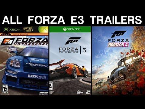 Evolution of Forza E3 Trailers (2005 - 2018)