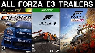 Evolution of Forza E3 Trailers (2005 - 2018)