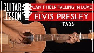 Can't Help Falling In Love Guitar Tutorial 🎸Elvis Presley Guitar Lesson |Fingerpicking Chords + TAB|
