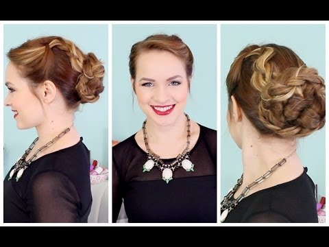 voluminous-braided-updo-for-the-holidays!