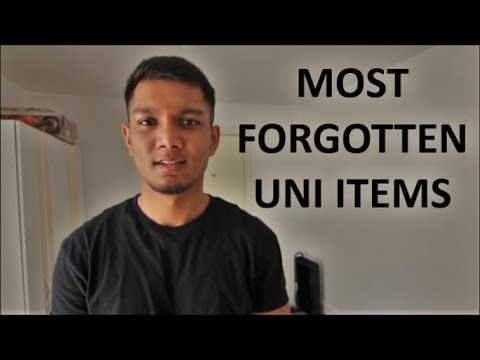 10 Things Uni Students Forget To Pack - Always