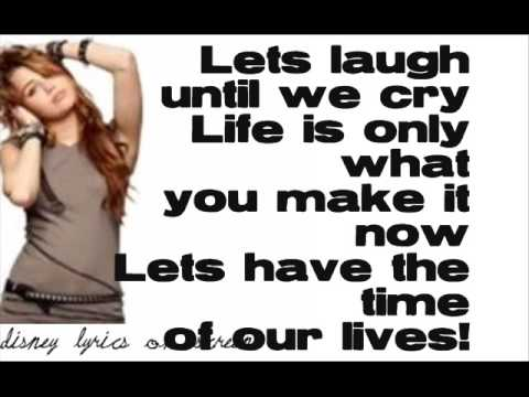 Miley Cyrus - Time Of Our Lives (Lyrics On Screen)