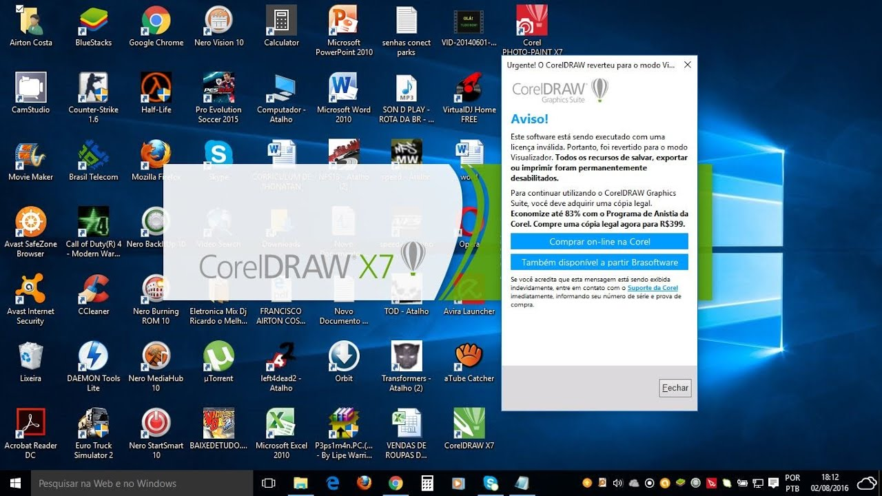 Como Resolver Problema Do Corel Draw X7 Revertido Youtube