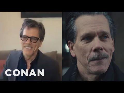 "Why Kevin Bacon Shaved His ""Pornstache"" - CONAN on TBS"