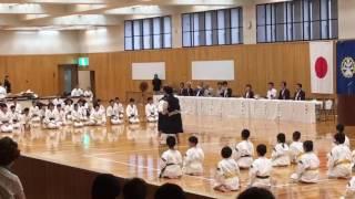 2017年   吹田市少林寺拳法連盟演武祭  披露演武  追手門