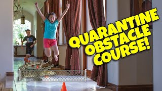 QUARANTINE OBSTACLE COURSE CHALLENGE!!! Family Race in the House!