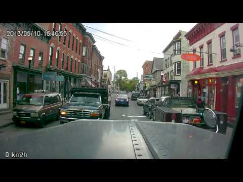 Narrow streets in Saugerties, NY