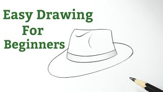 drawing easy simple hat very draw reference