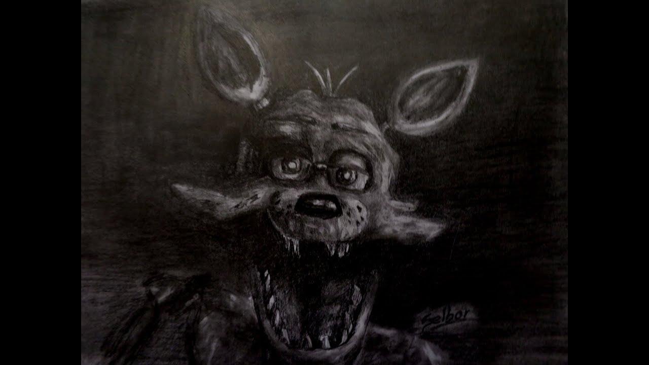 Cómo Dibujar A Foxy A Lápiz Five Nights At Freddys Selbor Youtube