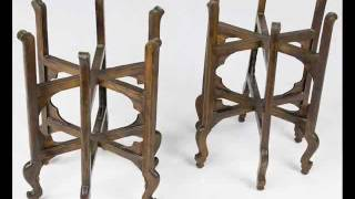 Antique Chinese Wooden Lantern Frame_an1009y.wmv
