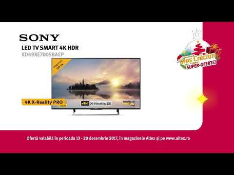 Reclamă Altex - TV SONY - decembrie 2017