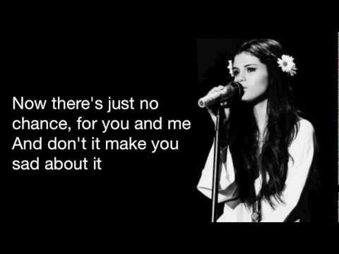 Selena Gomez ~ Cry me a river (lyrics)