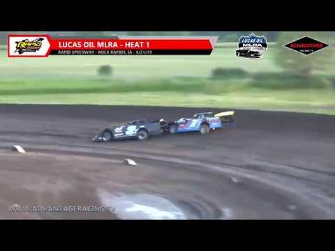 Sportsman/MLRA Heats - Rapid Speedway - 6/21/19