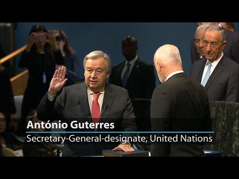 António Guterres sworn in as Secretary-General of the United Nations