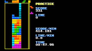 Tetris Pattern - 4 x 20 Stack (No Line Clears)