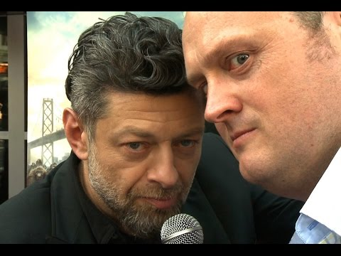 Caesar the Ape is Andy Serkis at the Dawn of the Planet of the Apes Red Carpet
