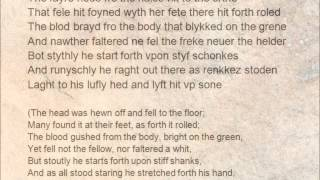 Sir Gawain and the Green Knight, lines 417-43