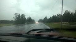 Töysässä sataa ja salamoi 31.7.14