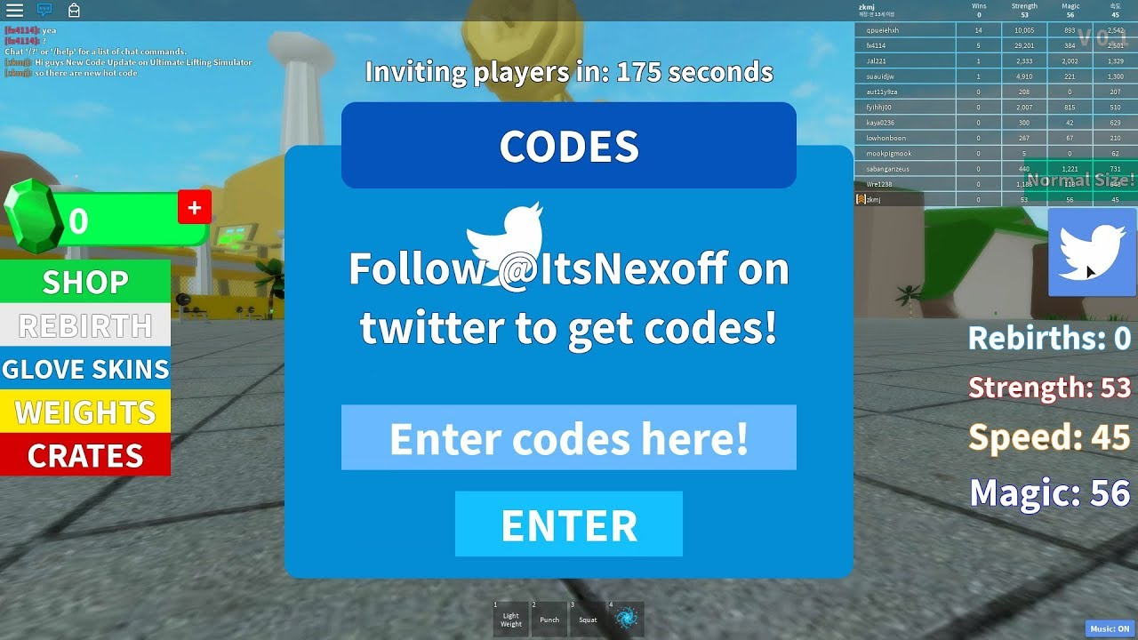 Codes For Roblox Dominus Lifting Sim Wiki