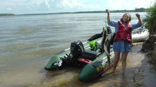 Щука на каждом забросе! ловля щуки на спиннинг на реке Обь!