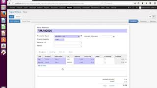 Odoo Demo - Repair Management